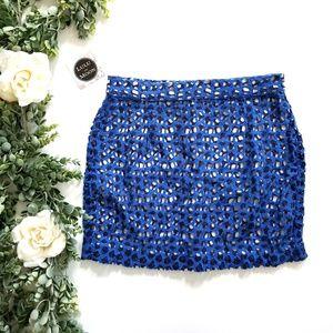 St. Tropez blue and white crochet skirt size 8